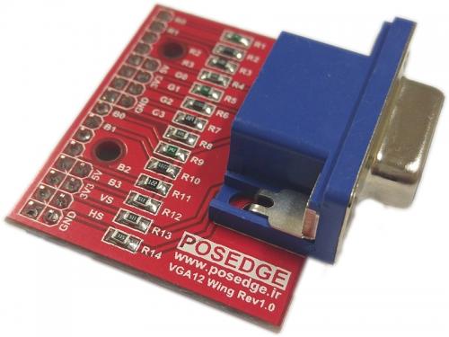 افزونه VGA دوازده بیتی (12 بیتی) برای برد آموزشی FPGA پازج یک