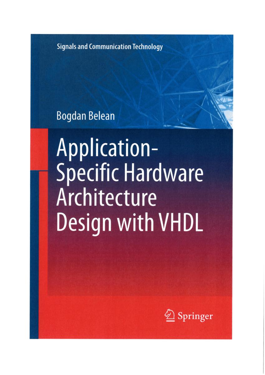دانلود کتاب Application-specific Hardware Architecture Design with VHDL