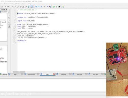 راه اندازی مبدل دیجیتال به آنالوگ (DAC) به زبان وریلاگ + ویدئو و کدهای پروژه