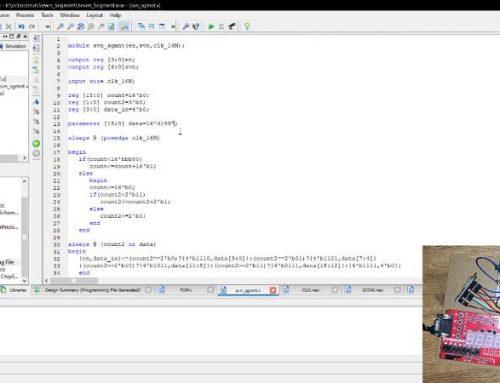 راه اندازی سون سگمنت با FPGA به زبان وریلاگ + ویدئو